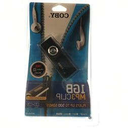 COBY 1GB MP3 Clip Audio Music Player MP565-1G NEW SEALED TA0