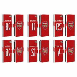 ARSENAL FC 2018/19 PLAYERS HOME KIT 2 LEATHER BOOK CASE FOR