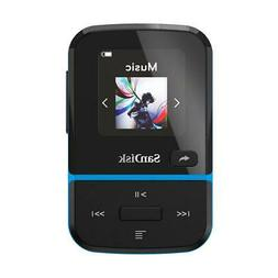 SanDisk 16GB Clip Sport Go Wearable MP3 Player, Blue #SDMX30