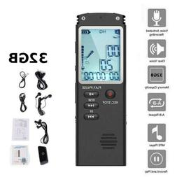 32GB Rechargeable Digital LCD Audio/Sound/Voice Recorder Dic