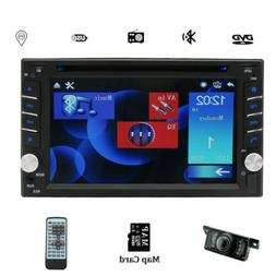 "Double Din In Dash 6.2"" Car DVD Radio Stereo Player GPS Blue"