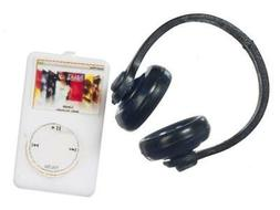 Dolls House MP3 Player with Headphones Miniature Modern 1:12