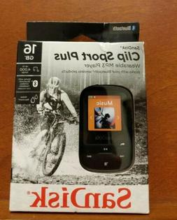 I108 SANDISK CLIP SPORT PLUS 16GB WEARABLE MP3 PLAYER WITH B