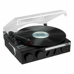 Jensen Jta-230r 3-speed Stereo Turntable With Built-in Speak