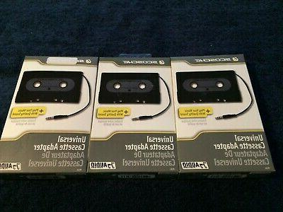 3 SCOSCHE CASSETTE ADAPTER & MP3 PLAYERS FACTORY SEALED