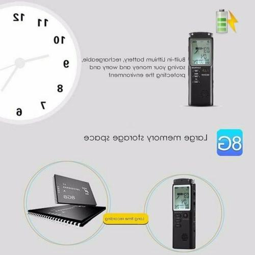 Rechargeable Digital Audio Sound Voice Recorder Dictaphone Players
