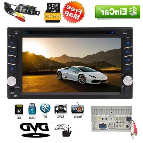double 2din capacitive touchscreen stereo gps car