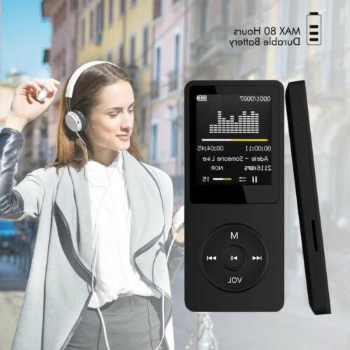 70 hours playback mp3 mp4 player lcd