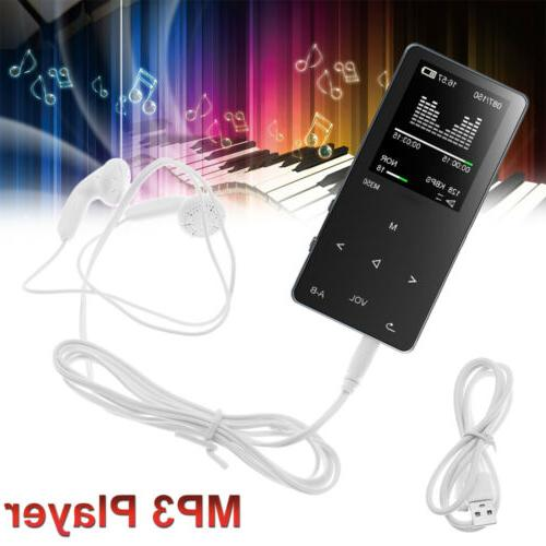 8GB Mp3 Music Player Fm Radio With Earphone Max Support 64Gb