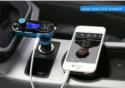 Dual USB Car Charger AUX FM Transmitter MP3 Music Player For