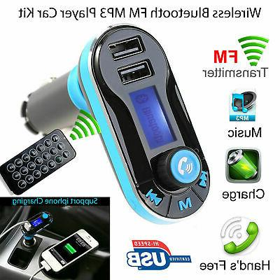 Bluetooth MP3 Radio Adapter USB Charger
