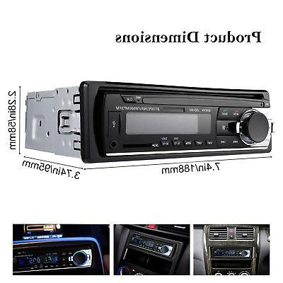 Bluetooth Car Stereo Audio In-Dash Aux Input Receiver USB MP3 Radio Player