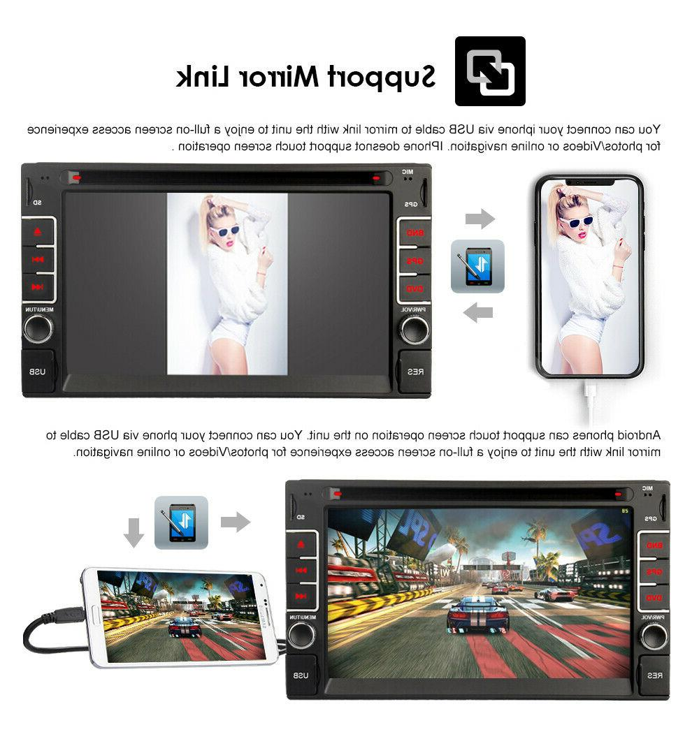 """GPS With Bluetooth 6.2"""" Car DVD Player"""