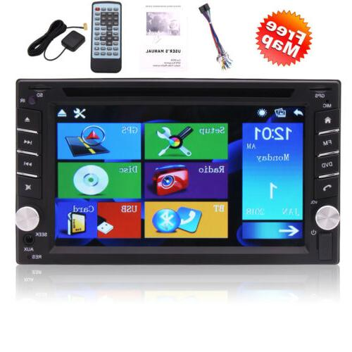 Double Capacitive TouchScreen Stereo GPS Car Player Bluetooth Radio