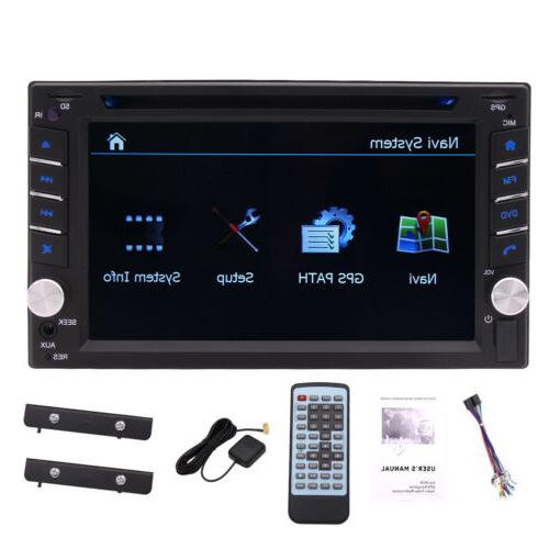 Double 2Din Stereo GPS Player Bluetooth