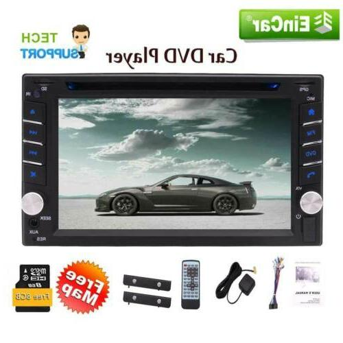 Double 2Din TouchScreen Stereo GPS Car Player