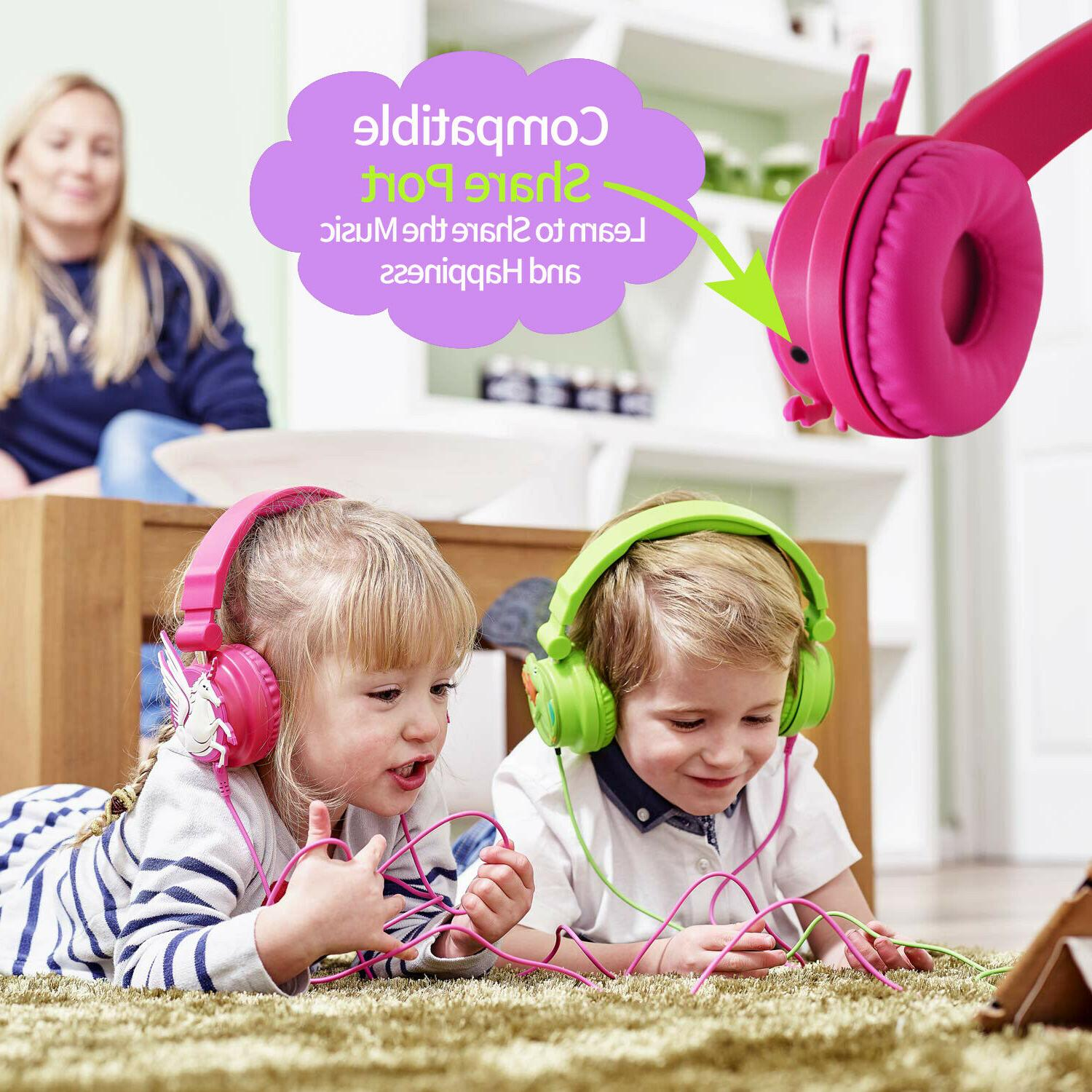 Kids Headphones Wired MP3 players PC