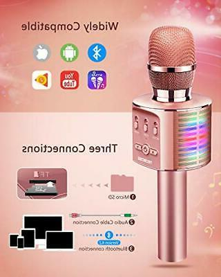 Microphone Wireless Bluetooth Players with LED