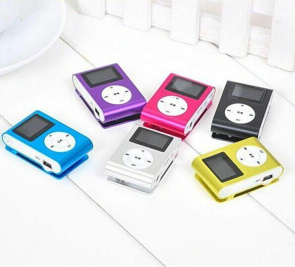 MP3 Music Player Digital Screen Clip Support SD