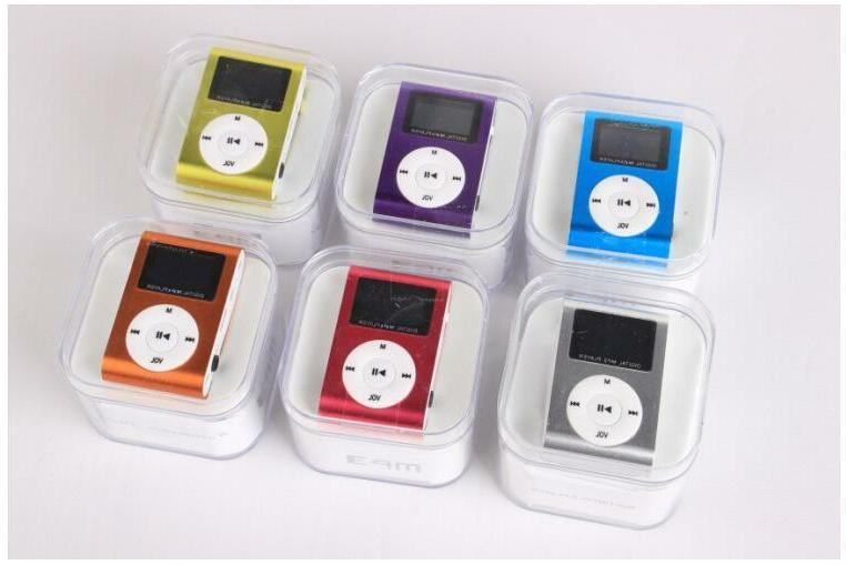 MP3 Music With Digital LCD Screen Clip Support 32GB SD