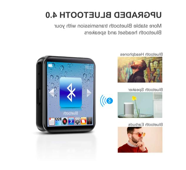 MP3 Player 32GB FM Screen Voice Video Player