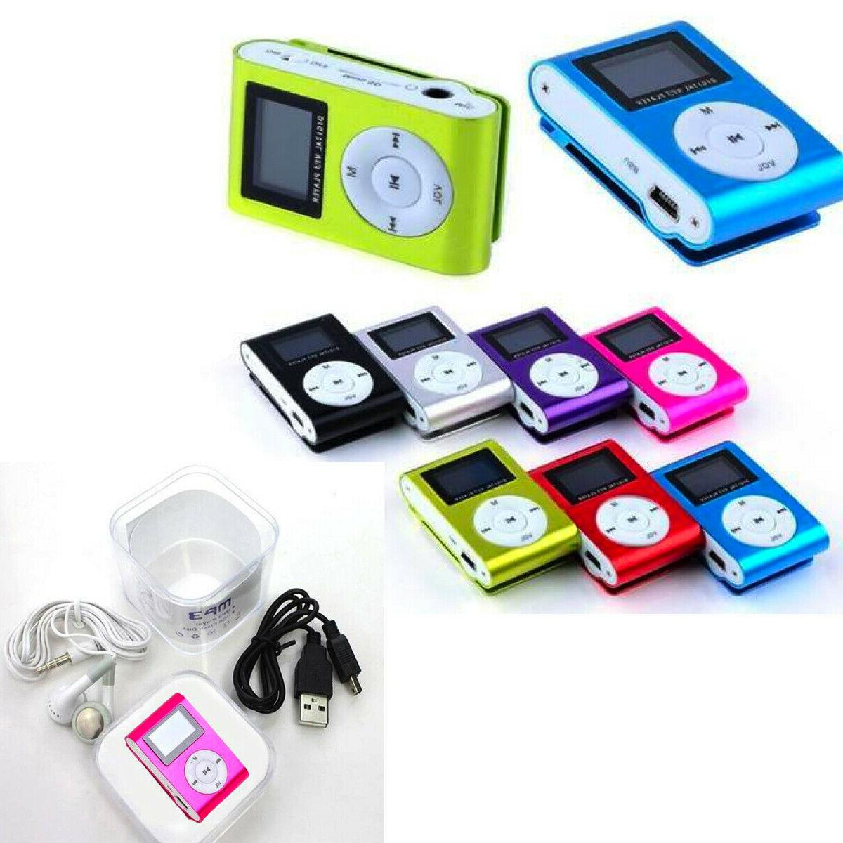 MP3 Player With Digital LCD Mini Clip Support TF