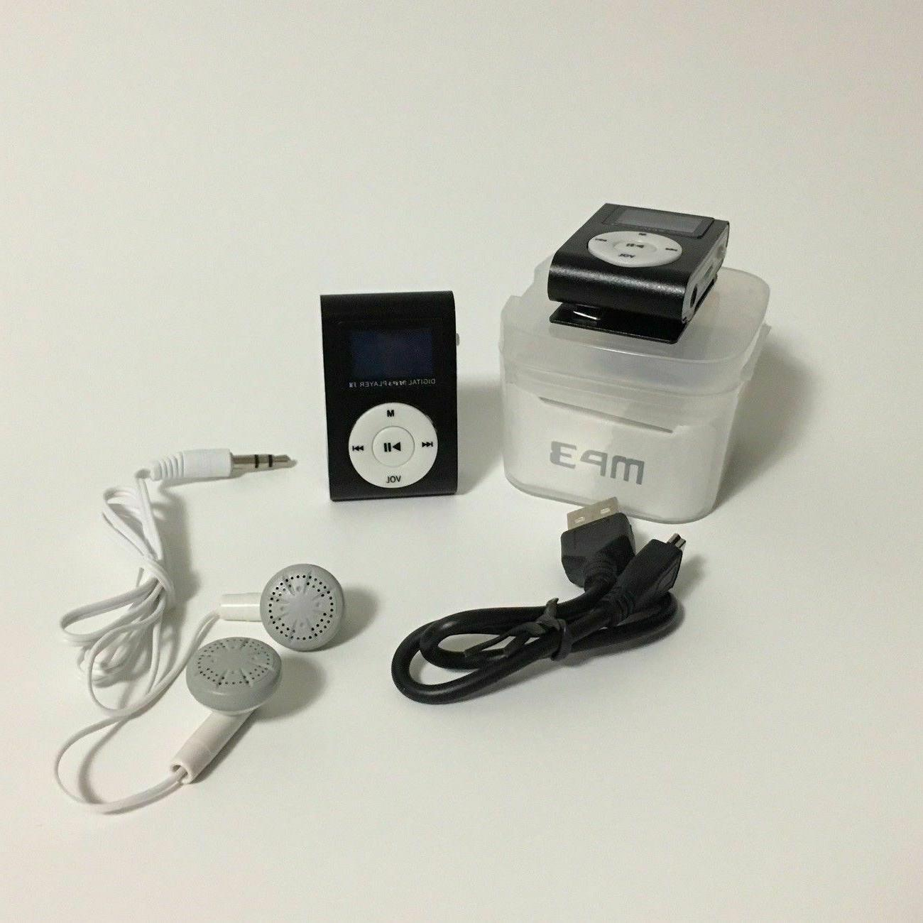 MP3 Player With LCD Screen Clip Support TF