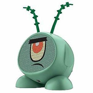 nickelodeon plankton rechargeable speaker for mp3 players