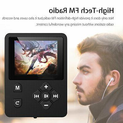 Portable MP3 Player FM Lossless Sound Earphone