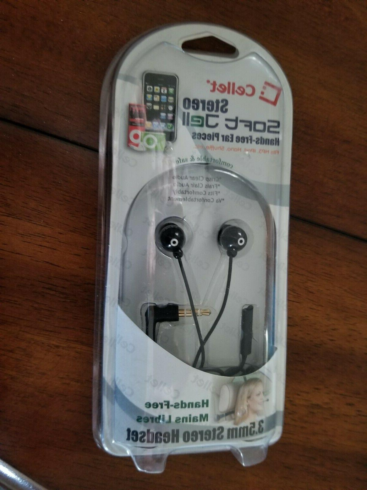 stereo soft jell hands free ear pieces