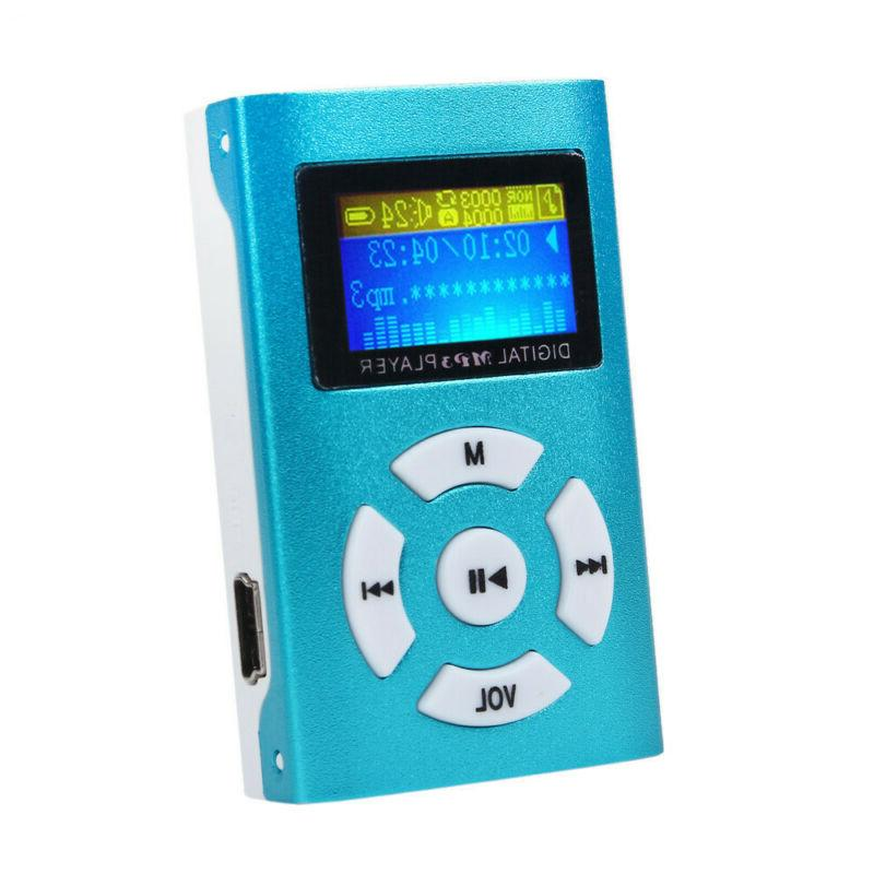 USB MP3 Player LCD Screen Support Micro SD Blue