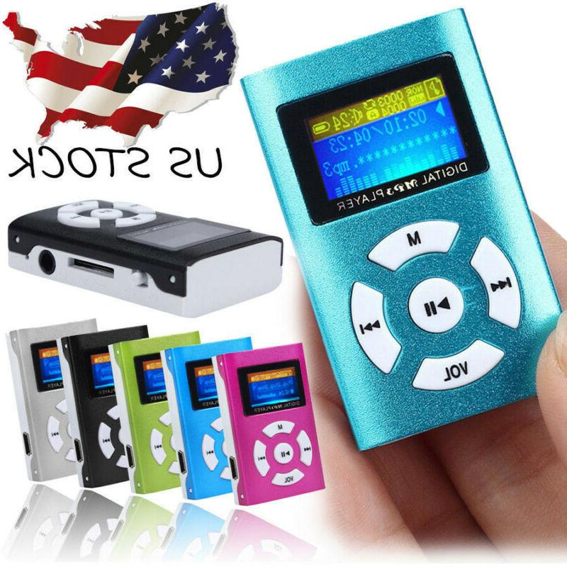 usb clip mp3 player lcd screen support