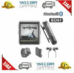 MP3 & MP4 Players 16GB Clip With Bluetooth, Sports Watch Tou