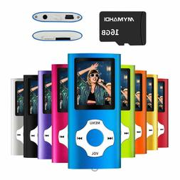 MP3/MP4 Music Player WITH 16 GB Card-Expandable Up to 64GB
