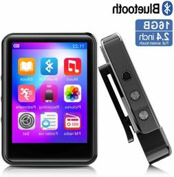 MP3Player, MP3 Player with Bluetooth, 16GB Portable Music Pl