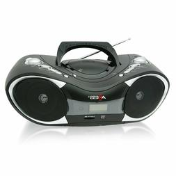 New Axess Portable Stereo MP3 CD Player Boombox AM/FM Radio