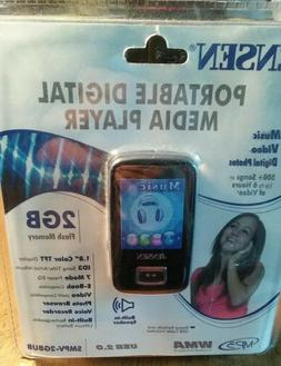 New Jensen SMPV-2GBUB Portable Digital Media Player 2G.