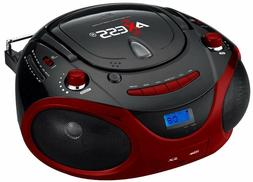 New Axess Stereo Boombox MP3 CD Player AM/FM Radio USB/SD AU