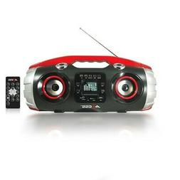 Axess PBBT2709RD Red Bluetooth MP3 Portable Boombox Stereo F