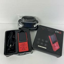 Portable MP3 Player Red 8GB Memory /64GB Micro SD Card -not