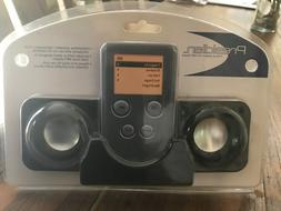 Presidian Folding Speakers for MP3 Players -Black NEW