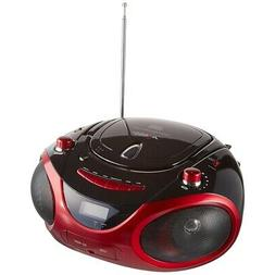NEW Axess Red Portable Boombox Mp3/cd Player PB2703RED