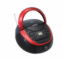 Axess Top-Loading Portable Boombox CD/MP3 USB-Charging MP3 P